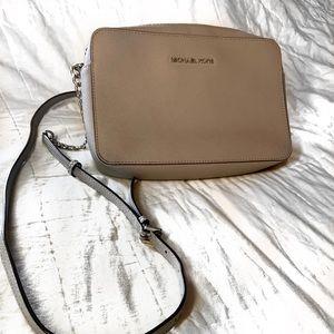 Michael Kors Gray Faux Leather Purse